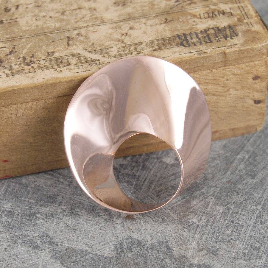 Swirl Designer Rose Gold Brooch