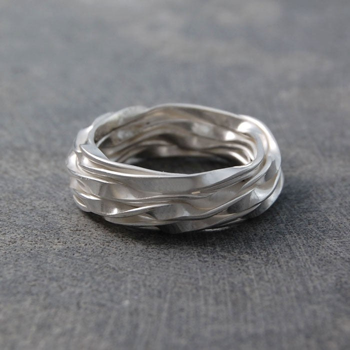 Wrap Contemporary Silver Ring