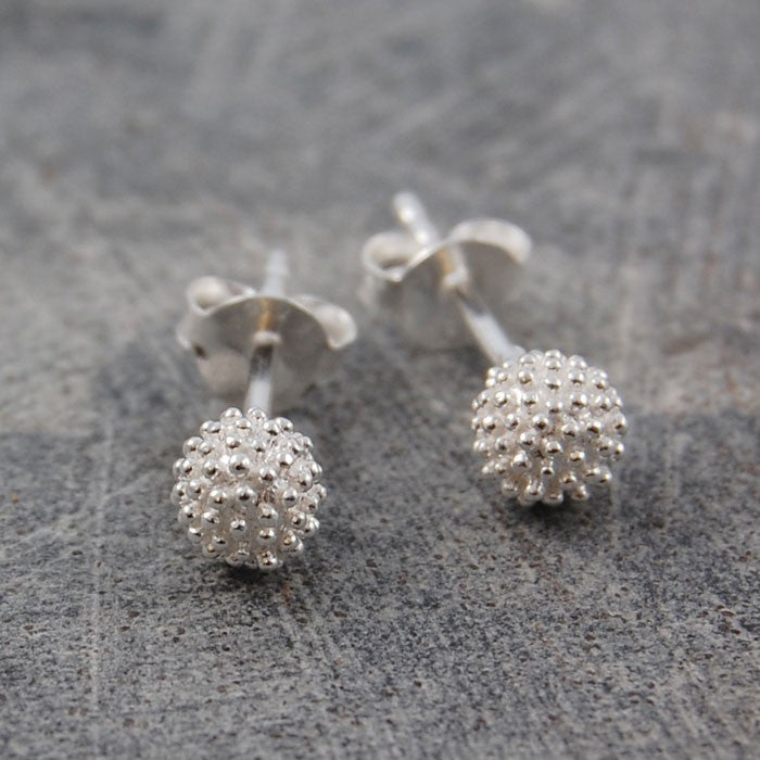 Sycamore Silver Stud Earrings - Otis Jaxon Silver Jewellery