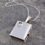 Heart Silver Book Locket