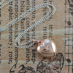 Rose Gold Heart Locket with White Topaz - Otis Jaxon Silver Jewellery