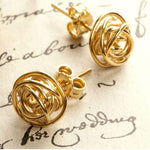 Nest Gold Stud Earrings - Otis Jaxon Silver Jewellery