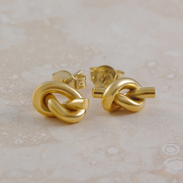 Gold Nautical Knot Earrings