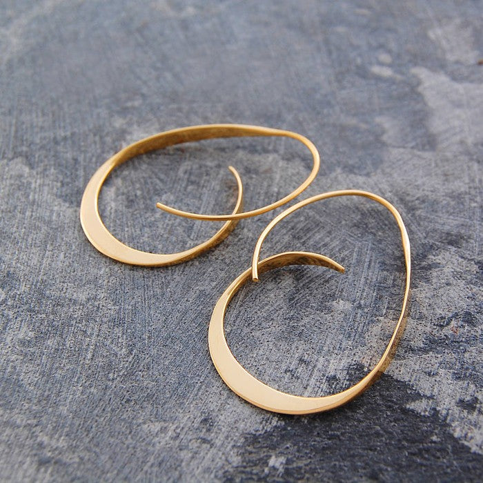 Tapered Gold Hoop Earrings