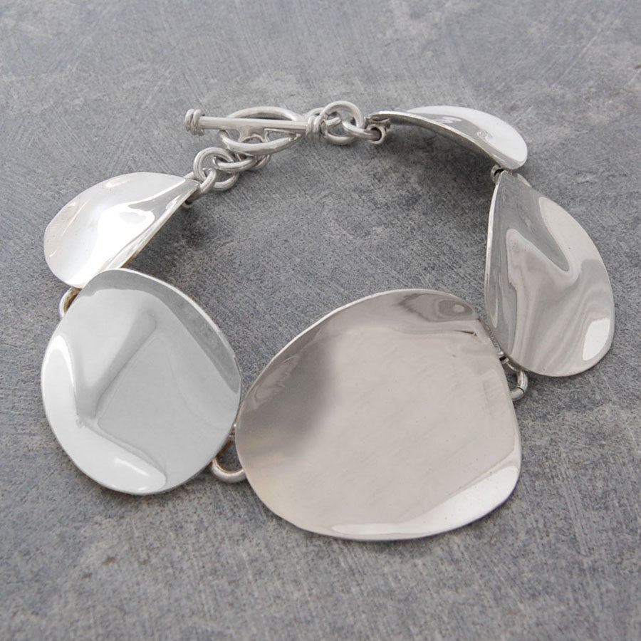 Petal Silver Chunky Statement Necklace - Otis Jaxon Silver Jewellery