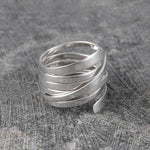 Ribbon Contemporary Silver Ring - Otis Jaxon Silver Jewellery