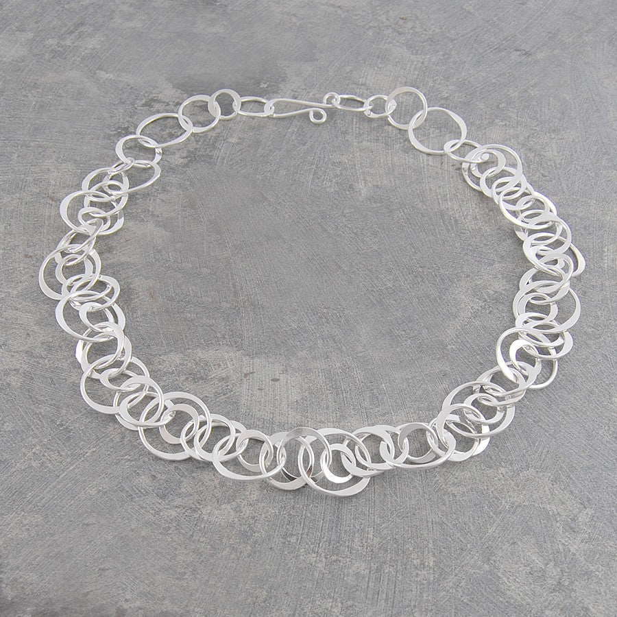 Planet Contemporary Silver Necklace - Otis Jaxon Silver Jewellery
