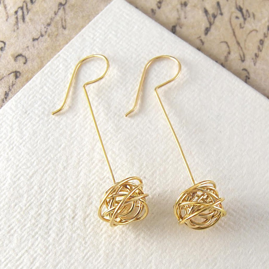 Nest Gold Drop Earrings