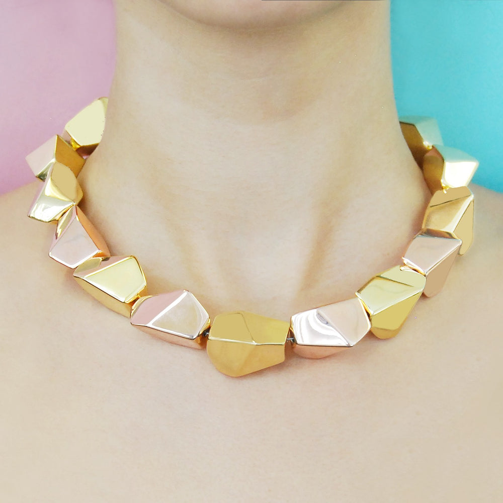 Nugget Chunky Gold Necklace
