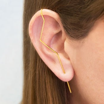 Gold Zig Zig Ear Climber