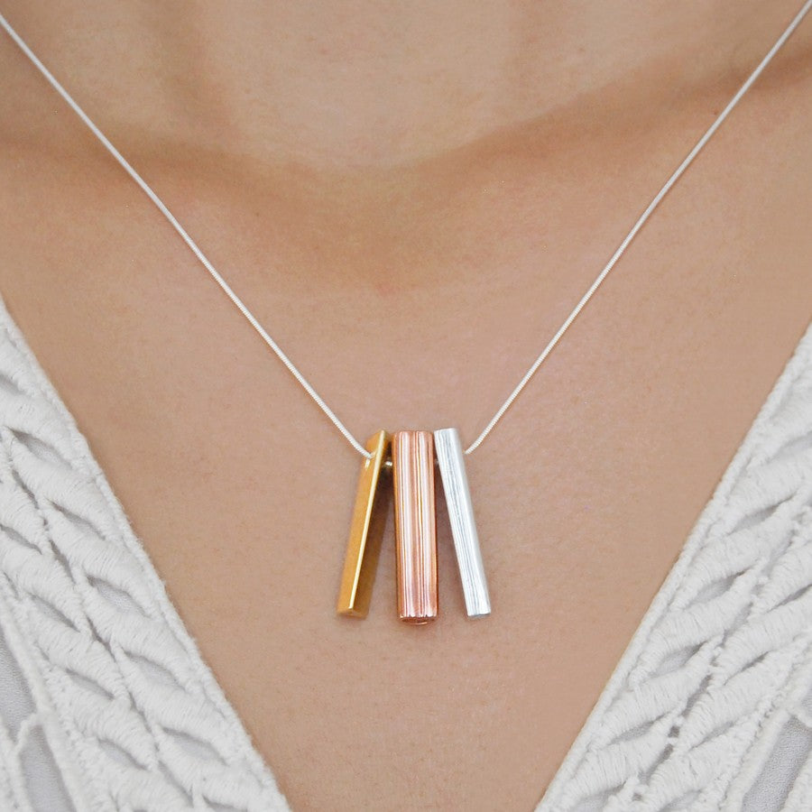 Alphabet Rose Gold Personalised Necklace - Otis Jaxon Silver Jewellery