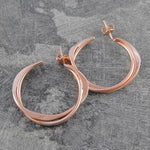 Interwoven Gold Hoop Earrings - Otis Jaxon Silver Jewellery