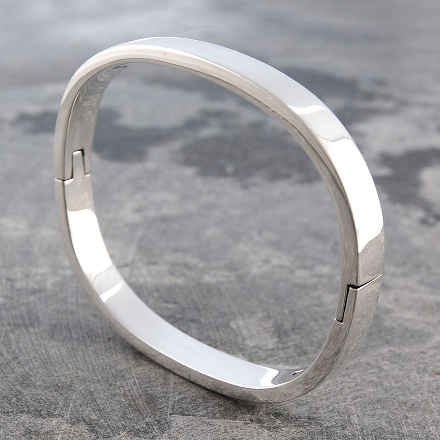 Chunky Solid Silver Hinged Bangle - Otis Jaxon Silver Jewellery