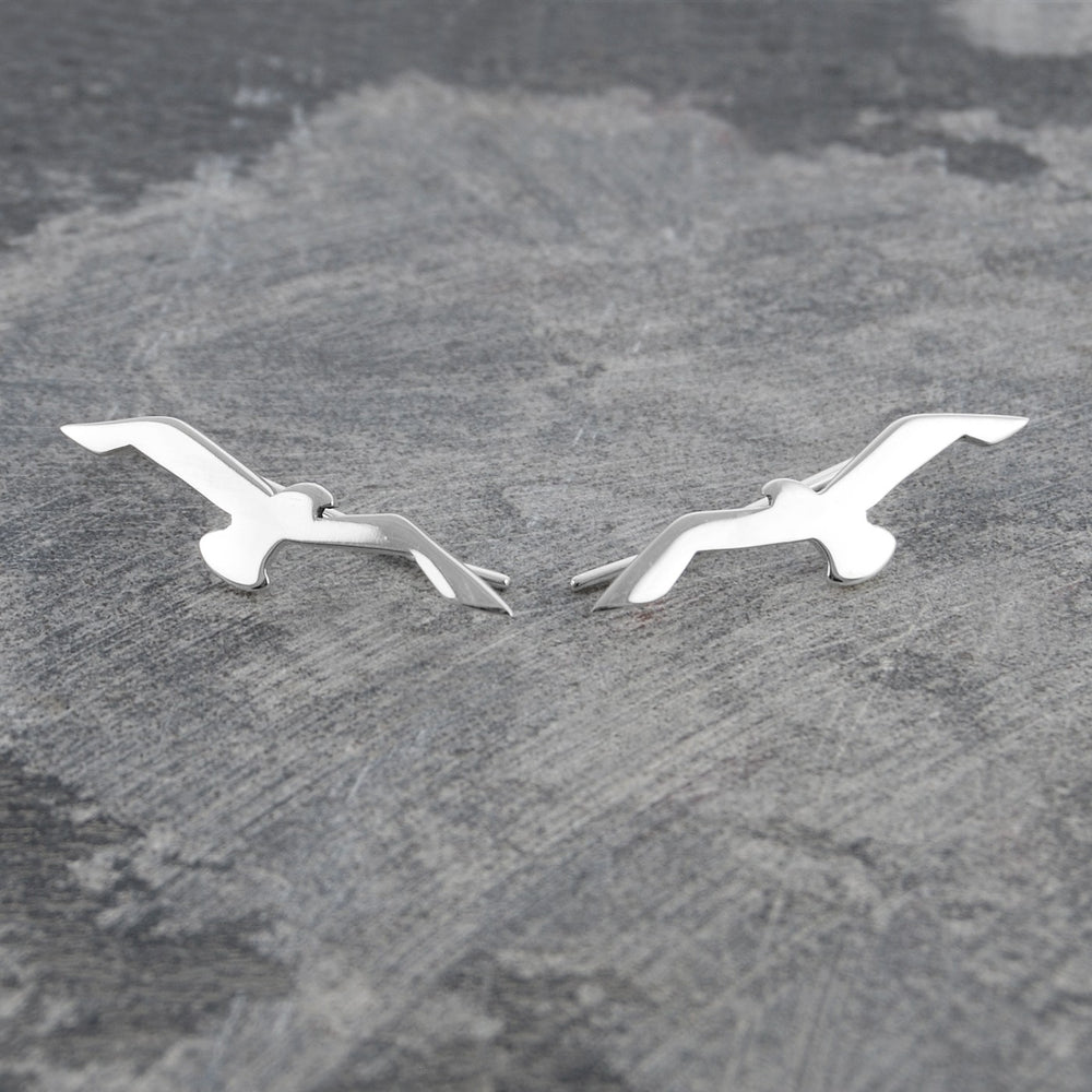 Silver Seagull Ear Cuff Earrings - Otis Jaxon Silver Jewellery