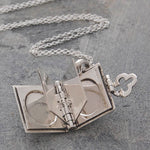 Silver Book Necklace - Otis Jaxon Silver Jewellery