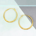 Small Hammered Rose Gold Hoop Earrings - Otis Jaxon Silver Jewellery