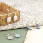 Iridescent June Birthstone Silver Pearl Earrings - Otis Jaxon Silver Jewellery