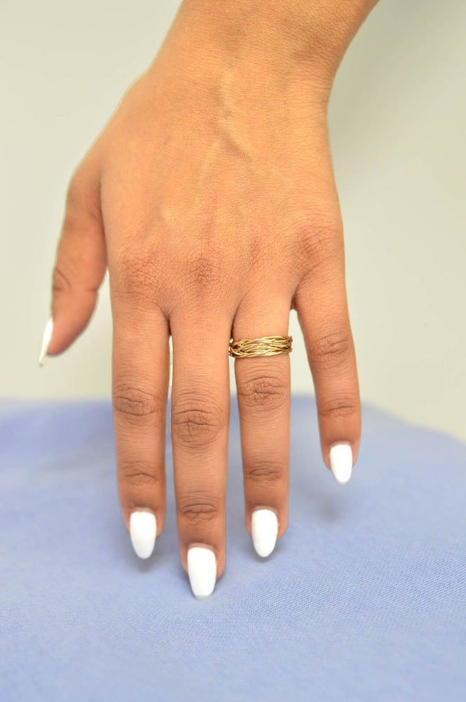 Gold Wire Contemporary Ring