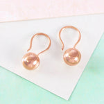 Ball 18 K Rose Gold Hook Earrings