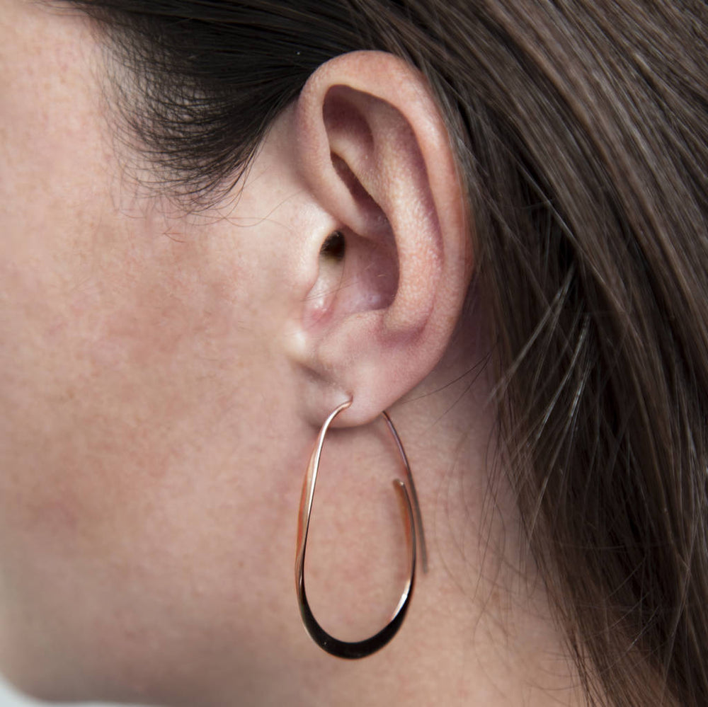 Curl Gold Hoop Earrings - Otis Jaxon Silver Jewellery