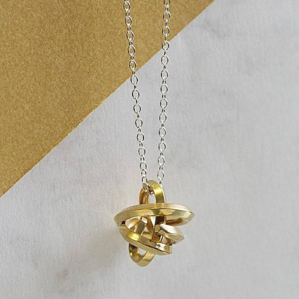 Gold Infinity Knot Silver Necklace