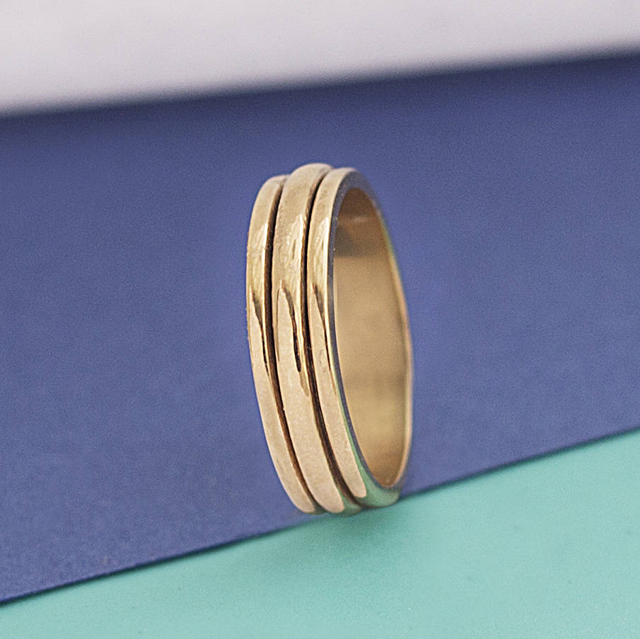 Gold Sterling Silver Spinning Ring - Otis Jaxon Silver Jewellery
