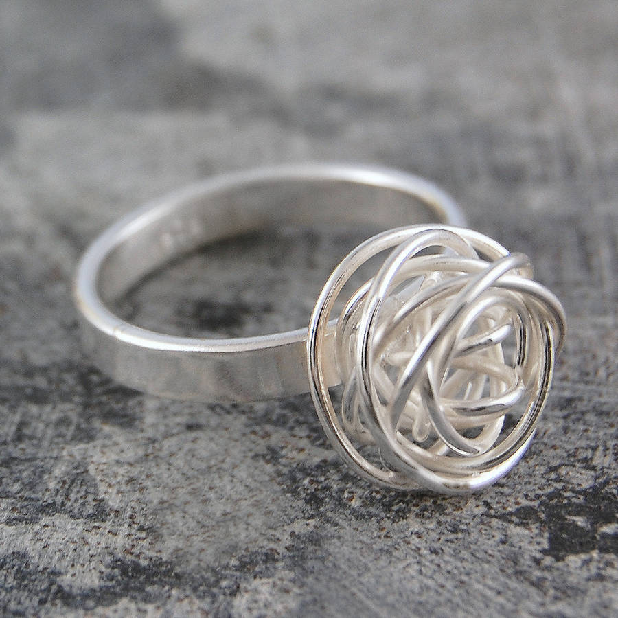 Nest Contemporary Silver Ring - Otis Jaxon Silver Jewellery