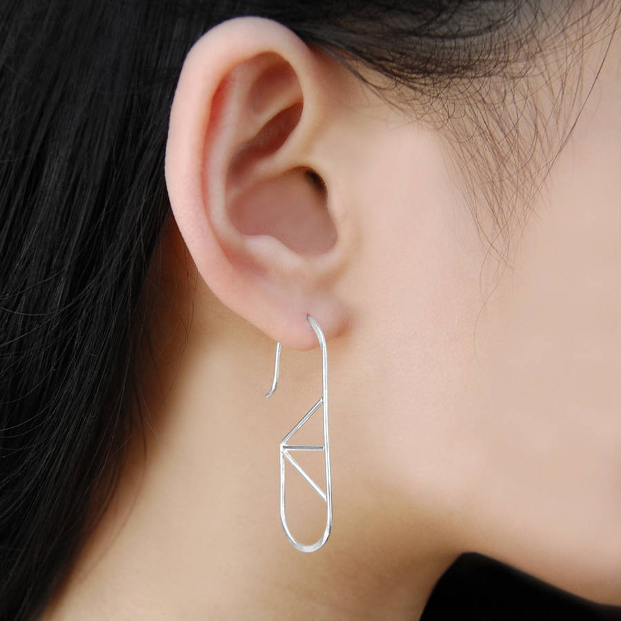 Geometric Oval Wire Yellow Gold/Rose Gold Hoop Earrings - Otis Jaxon Silver Jewellery