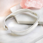 Chunky Solid Silver Hinged Bangle