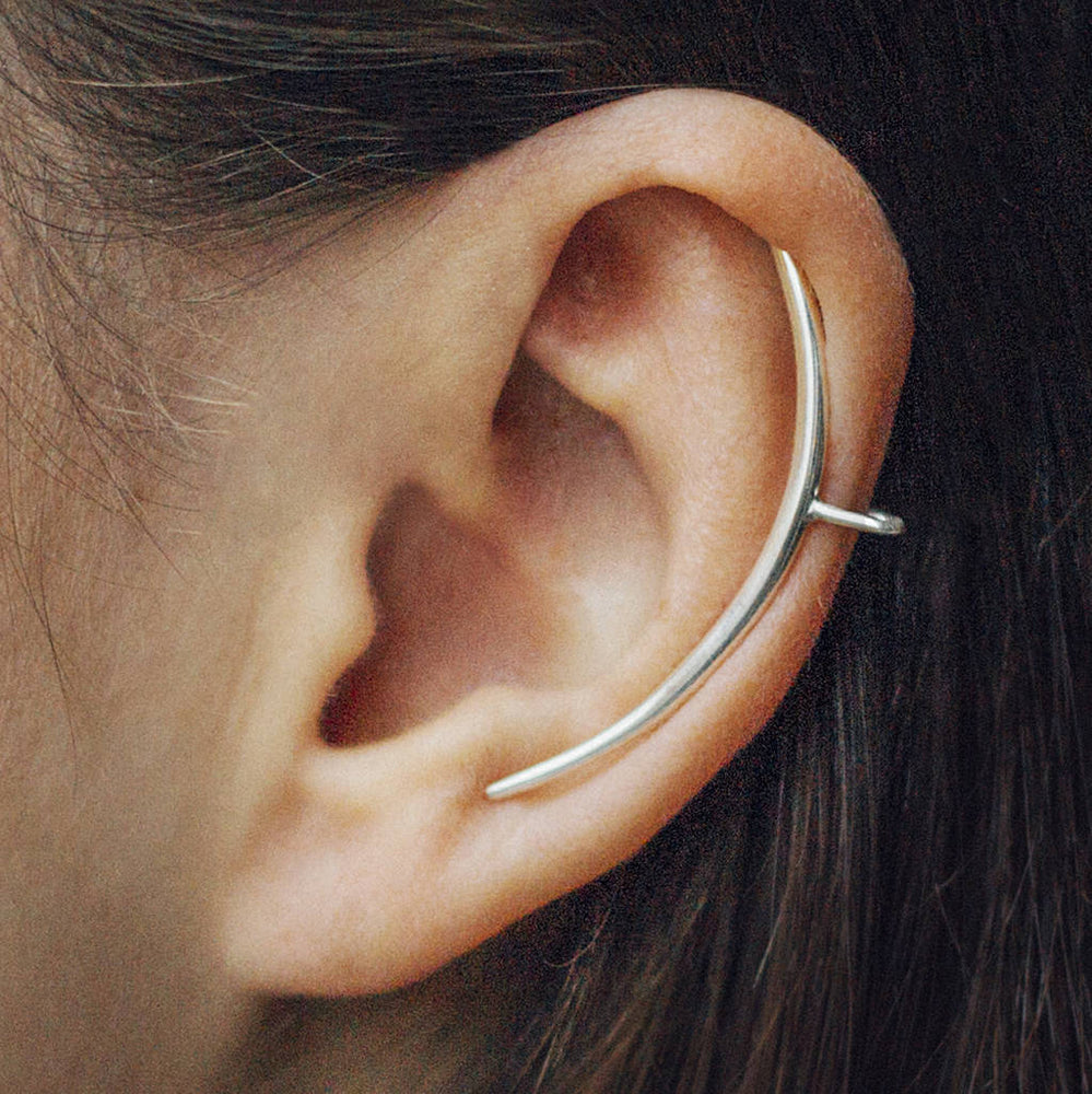 Tusk Ear Cuff Simple Silver Earrings - Otis Jaxon Silver Jewellery