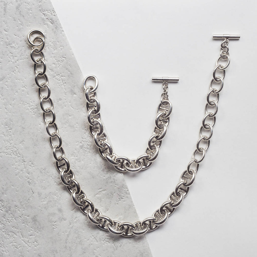 Sterling Silver Chunky Link Chain Necklace - Otis Jaxon Silver Jewellery