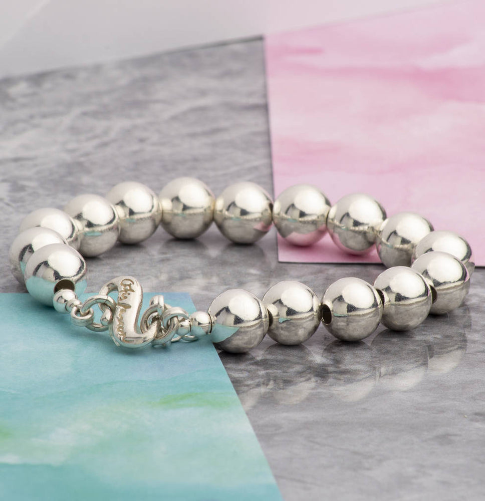 Large Sterling Silver Ball Bracelet