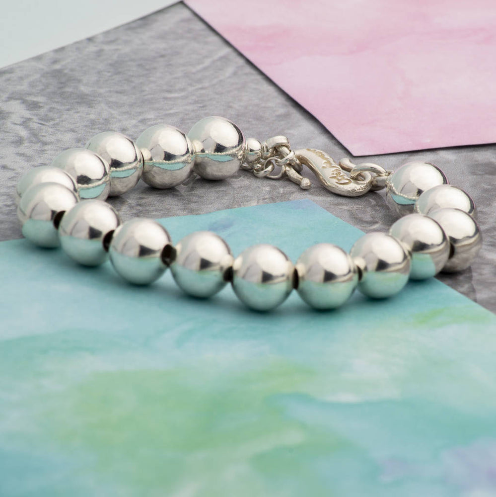 Large Sterling Silver Ball Bracelet - Otis Jaxon Silver Jewellery