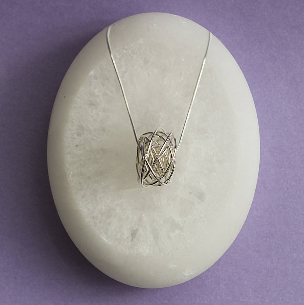 Sterling Silver Coiled Nest Necklace - Otis Jaxon Silver Jewellery