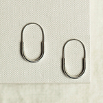 Minimalist Oval Silver Hoop Earrings - Otis Jaxon Silver Jewellery