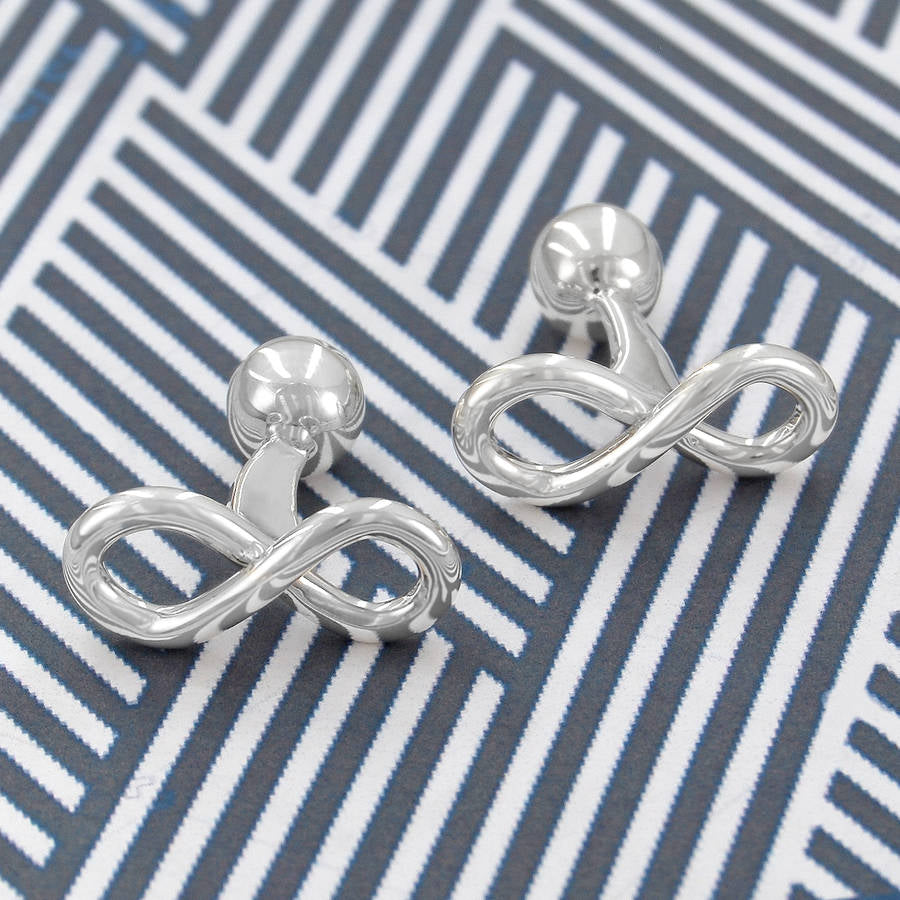 Infinity Silver Knot Cufflinks
