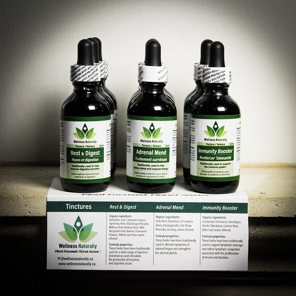 Wellness Naturally Tinctures - In-store display