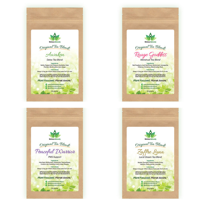 Women's Tea Blend - Combo Pack - 4 Tea Blends - 80 grams