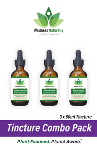 3 Tincture Combo Pack by Wellness Naturally - 3x 60ml Tincture