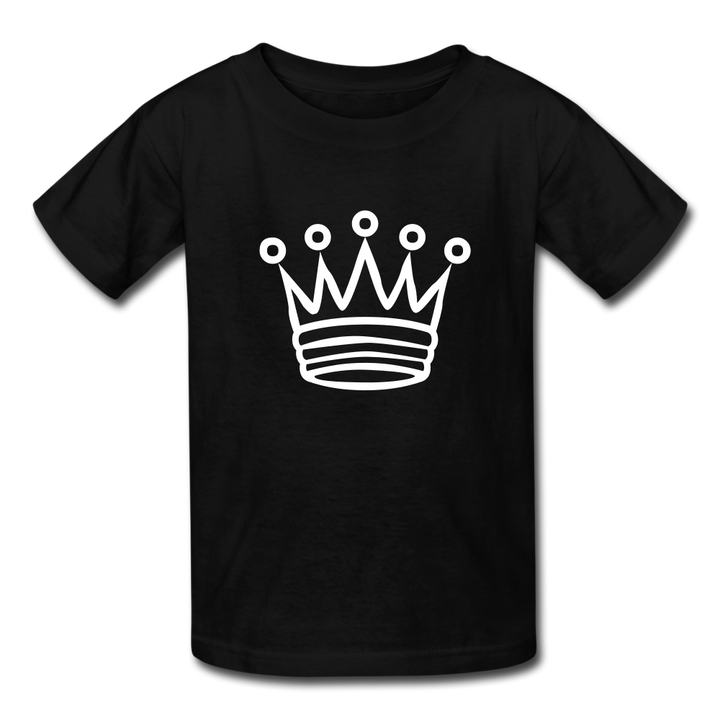 I AM the Crown Kids' T-Shirt - black