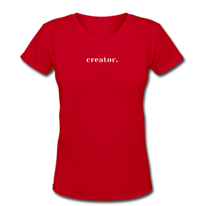 Creator Women's V-Neck T-Shirt - red