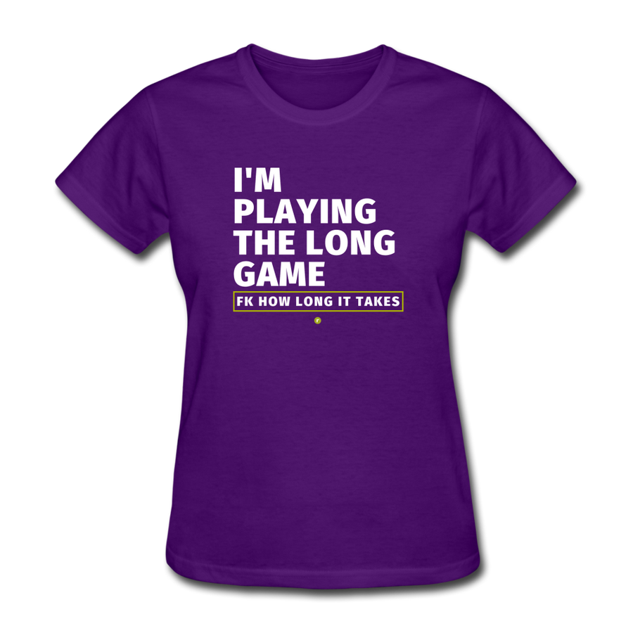 I'm Playing the Long Game Women's T-Shirt - purple