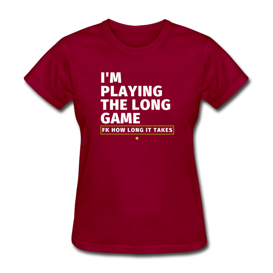 I'm Playing the Long Game Women's T-Shirt - dark red