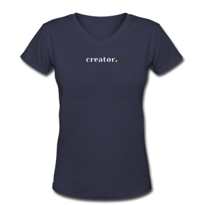 Creator Women's V-Neck T-Shirt - navy
