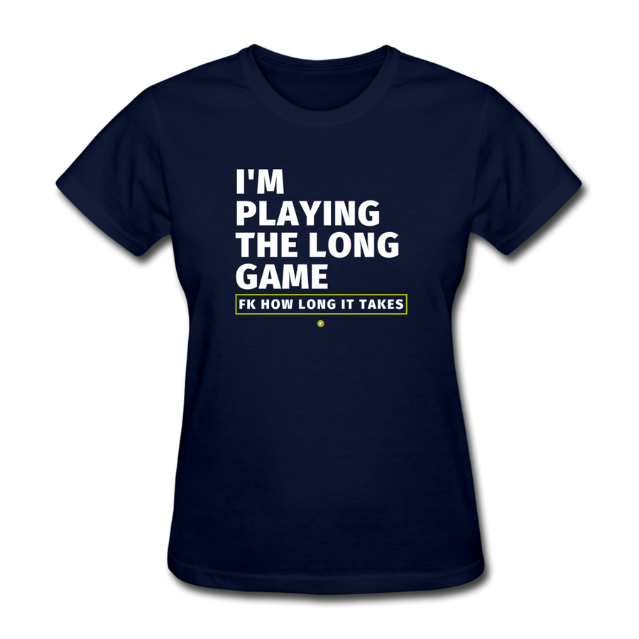 I'm Playing the Long Game Women's T-Shirt - navy