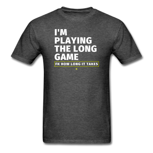 I'm playing the long game Men's T-Shirt - heather black