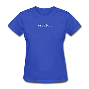 Creator Women's T-Shirt - royal blue