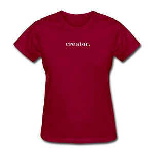 Creator Women's T-Shirt - dark red