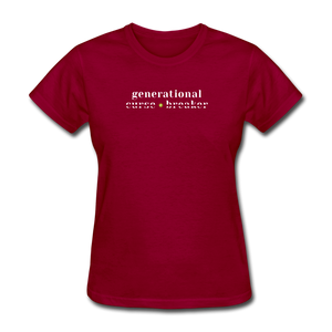 Generational Curse Breaker Women's T-Shirt - dark red