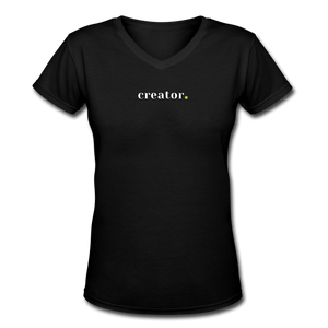 Creator Women's V-Neck T-Shirt - black